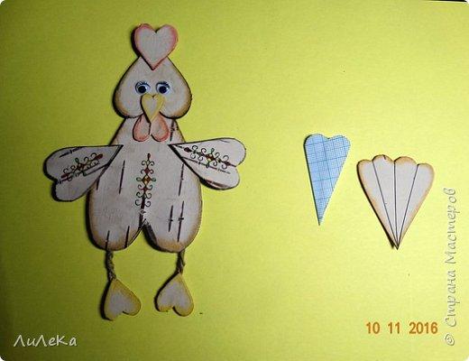 Предлагаю вам сделать ещё одного петушка - берестяного, с пижемской росписью.  фото 7