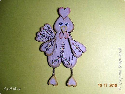 Предлагаю вам сделать ещё одного петушка - берестяного, с пижемской росписью.  фото 8