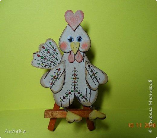 Предлагаю вам сделать ещё одного петушка - берестяного, с пижемской росписью.  фото 12