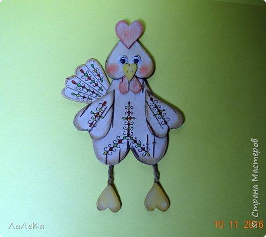 Предлагаю вам сделать ещё одного петушка - берестяного, с пижемской росписью.  фото 11