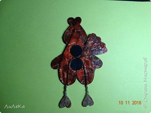 Предлагаю вам сделать ещё одного петушка - берестяного, с пижемской росписью.  фото 14