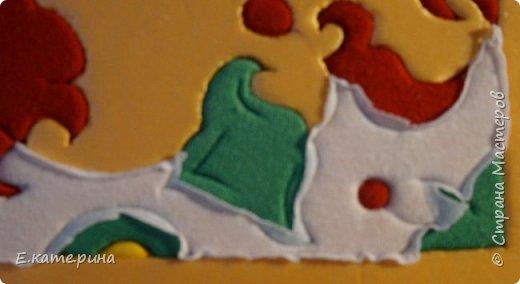 """Этот МК появился благодаря Надежде Денисовой! Пару дней назад опубликовала подобную работу и получила от нее первый отзыв """"Екатерина! Что же вы, такую красоту не поместили в разделе конкурс?"""" И решила попробовать.Картина выполнена в технике кинусайга. фото 8"""