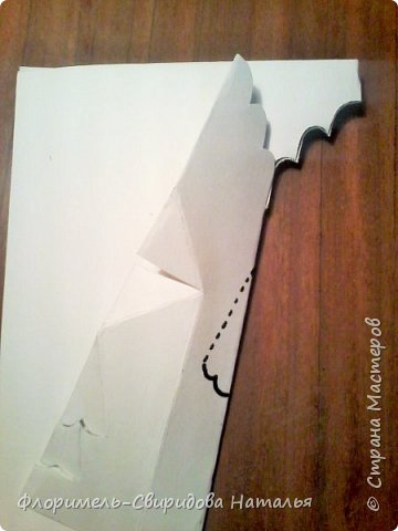 """Поделка выполняется в технике """"киригами"""" - открытка с раскрывающимся элементом внутри. Для работы понадобятся акварельная бумага, фломастеры(или любой другой изобразительный материал) и ножницы. фото 5"""