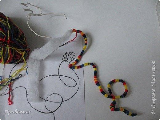"""Знакомы ли вы с рисунками одной линией Пабло Пикассо? А с техникой """"Моталки"""" Оксаны Жмаевой? В любом случае представляю вам мой симбиоз - Петушок Пикассо. фото 7"""
