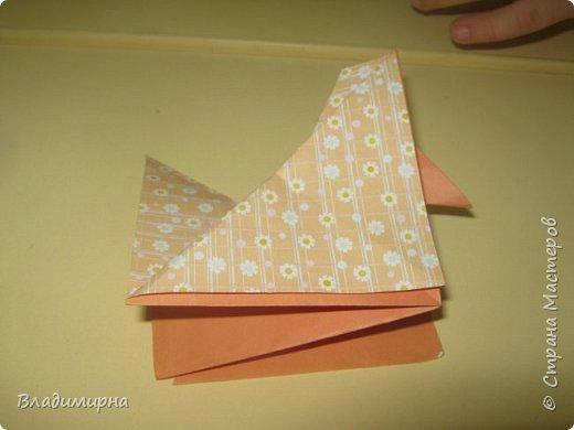 Вот такие петушки для елки получились у Ани, Вари и Ксюши из бумаги для оригами.  фото 8