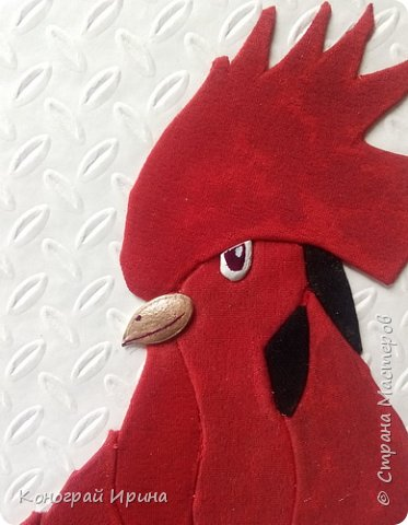 Портрет Петушка в японской технике осиэ.  фото 18