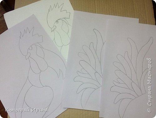 Портрет Петушка в японской технике осиэ.  фото 3