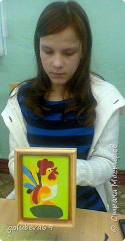 Вот такой портрет Петушка получился у Лены. В конкурсе Страны Мастеров Лена участвует уже не в первый раз, поэтому с удовольствием взялась за работу. фото 11