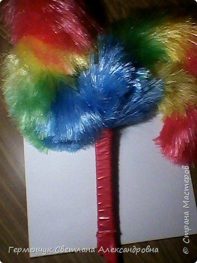 Для изготовления Осеннего петуха использовала 3 метелки для сбора пыли (только новые). фото 3