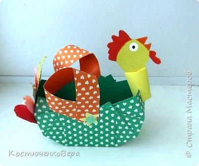 Сделаем новогодние корзинки. В них можно насыпать конфет или положить ёлочные игрушки. фото 19