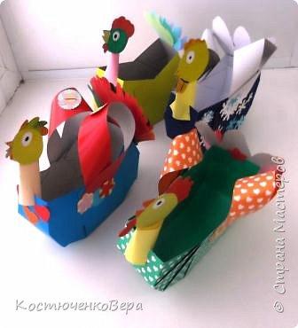 Сделаем новогодние корзинки. В них можно насыпать конфет или положить ёлочные игрушки. фото 21