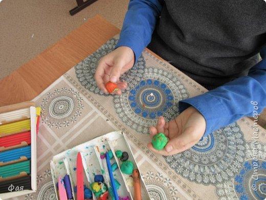 .Вот такая елочная игрушка получилась у Димы. фото 2