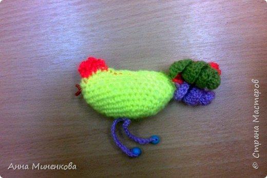 Доброго всем времени суток!  Для участия в новогоднем конкурсе моя ученица Насырова Элина связала петушка - ёлочную игрушку, а придумали мы его вместе.  фото 9