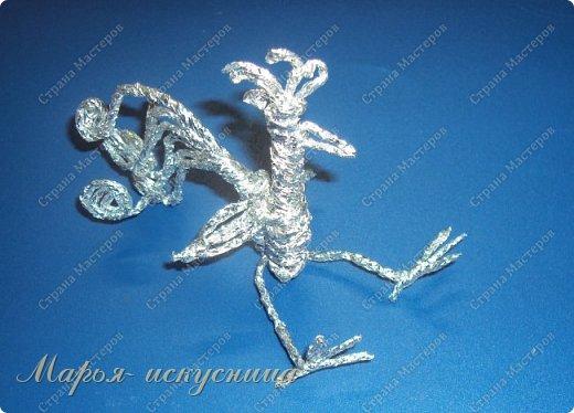 """Мой веселый """"Серебряный петушок"""" прост в изготовлении, может быть украшением елки и частью настольной композиции. фото 14"""
