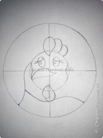 Предлагаю нарисовать новогодний портрет символа 2017 года- петуха. фото 7