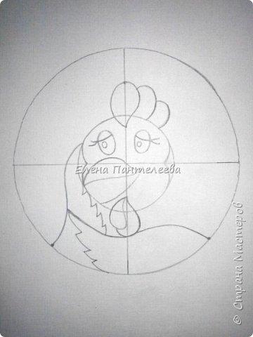 Предлагаю нарисовать новогодний портрет символа 2017 года- петуха. фото 8