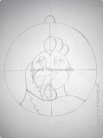 Предлагаю нарисовать новогодний портрет символа 2017 года- петуха. фото 9