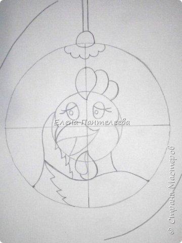 Предлагаю нарисовать новогодний портрет символа 2017 года- петуха. фото 10