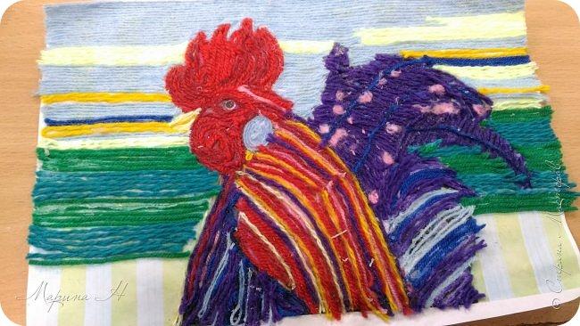 Эту работу было решено нарисовать ниточками. Эту ответственную работу было поручено выполнять Медведевой Соне. Она учится во втором классе фото 10