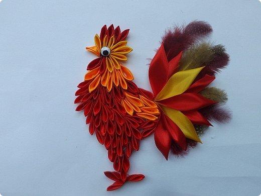 Портрет петушка. Огненный петушок. фото 1