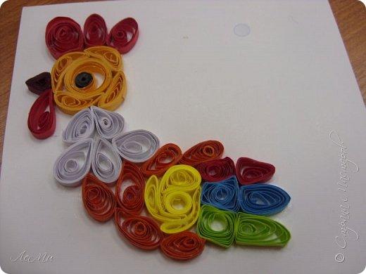 Радужный петушок - магнитик на холодильник фото 6