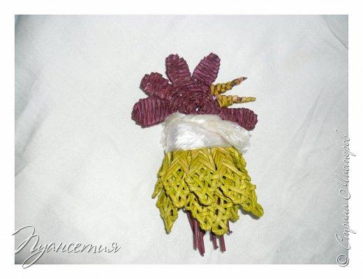 """Петушок выполнен в технике """"плетение из бумажной лозы"""" У моего петушка есть старший брат. Сплела без фото процесса, вот и пришлось повторить. фото 7"""