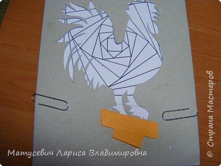 """Петя-Петушок сделан в технике """"Айрис-фолдинг"""" фото 7"""