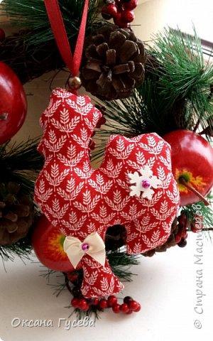 Вместе с первым снегом приближается время самого веселого и любимого праздника в году - Нового года. Каким он будет, что принесёт с собой, как встречать новый год - об этом задумываются уже многие. Новый 2017 год пройдет под знаком огненного или красного Петуха. Петух — это птица с громким голосом, ярким оперением, он несет  новую жизнь, жизнерадостность, прогоняет тьму и нечисть. Петух всегда несет новое - он просыпается с первыми лучами солнца и сообщает всем о наступлении нового дня.  В старину новогоднюю елку украшали сладостями, самодельными деревянными и тряпичными игрушками ,и дом наполнялся теплом и уютом! Подарите себе и своим близким праздник! Пусть в вашем доме будет самая необычная и самая красивая елочка! Давайте вместе сошьём тряпичного петушка и украсим им ёлочку или подарим своим родным и друзьям!  фото 15
