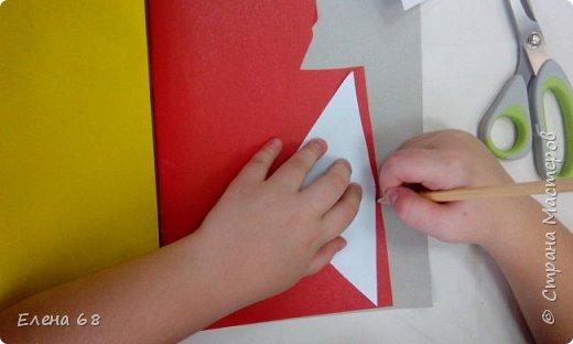 """В школе открылась """"Мастерская Деда Мороза"""". И мы решили, что первой работой должен быть символ Нового Года. Петушок. фото 5"""