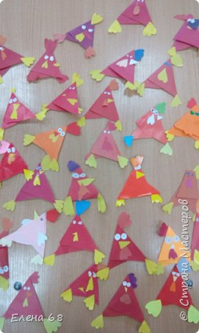 """В школе открылась """"Мастерская Деда Мороза"""". И мы решили, что первой работой должен быть символ Нового Года. Петушок. фото 11"""