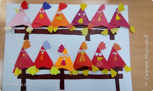 """В школе открылась """"Мастерская Деда Мороза"""". И мы решили, что первой работой должен быть символ Нового Года. Петушок. фото 1"""