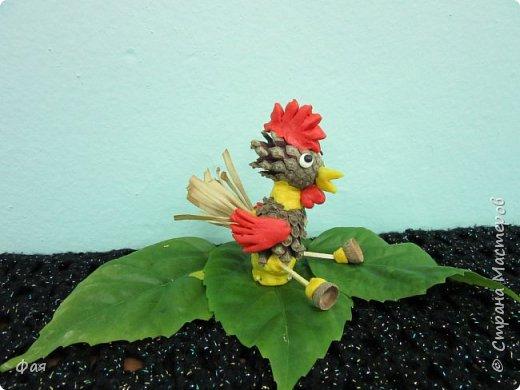 Принимайте осеннего петушка! Сделан он из даров осени. фото 10