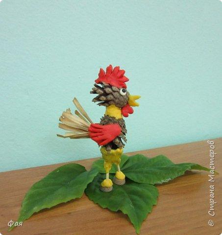 Принимайте осеннего петушка! Сделан он из даров осени. фото 1