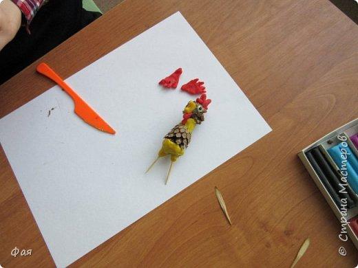 Принимайте осеннего петушка! Сделан он из даров осени. фото 6