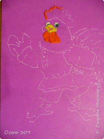 """Во многих русских народных сказках одним из героев является Петух. Это всем известные сказки """"Петушок - золотой гребешок"""", """"Бобовое зернышко"""", """" Кочеток и курочка"""". Для конкурса Диана захотела сделать вот такого Кочетка. фото 3"""