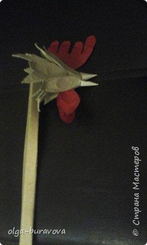 Новогодний петушок из бросового материала фото 5
