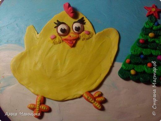 Вот такого новогоднего цыпленка предлагаем вам слепить. фото 18