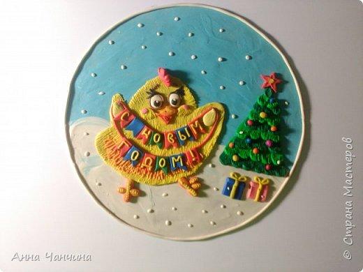 Вот такого новогоднего цыпленка предлагаем вам слепить. фото 1