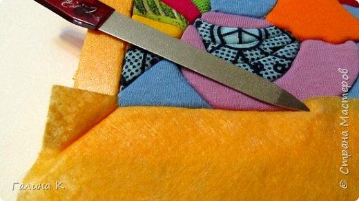 Этот петушок выполнен из маленьких кусочков ткани в технике кинусайга.  фото 19