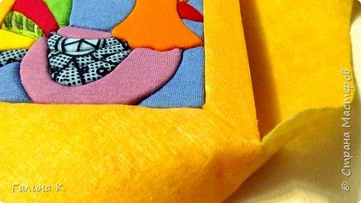 Этот петушок выполнен из маленьких кусочков ткани в технике кинусайга.  фото 20