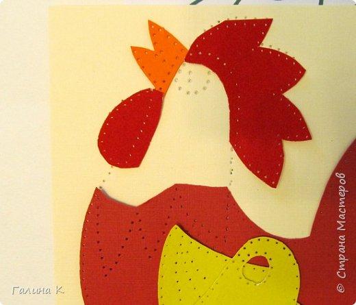 Наступает год огненного петуха, решено было сделать его в красно-желтом цвете. фото 6