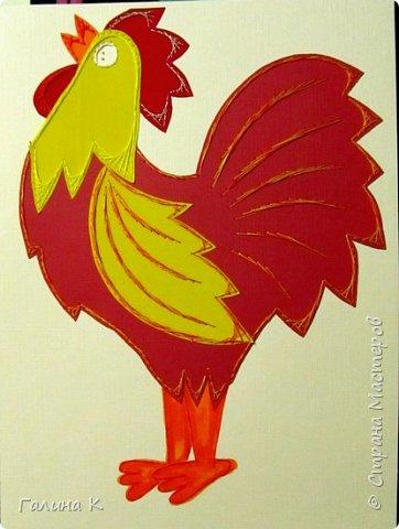 Наступает год огненного петуха, решено было сделать его в красно-желтом цвете. фото 15