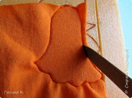 Этот петушок выполнен из маленьких кусочков ткани в технике кинусайга.  фото 10