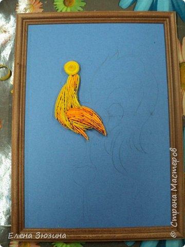 Для своей работы Алина выбрала сказку Александра Сергеевича Пушкина и изобразила волшебного золотого петушка. фото 11