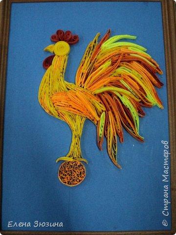 Для своей работы Алина выбрала сказку Александра Сергеевича Пушкина и изобразила волшебного золотого петушка. фото 12