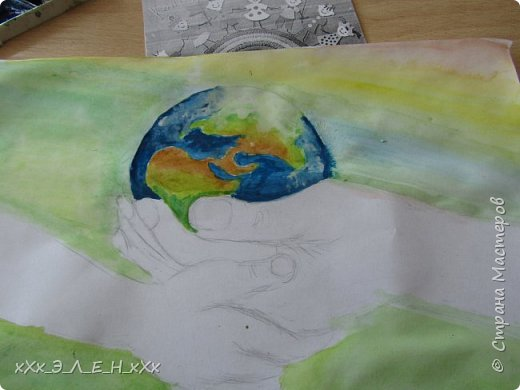 """Здравствуйте мастера и мастерицы  замечательной СТРАНЫ МАСТЕРОВ.  Конкурс называется """" Дети планеты"""". Так давайте сохраним нашу Землю, не дадим ей погибнуть , чтобы передать ее в ценности и сохранности детям!  фото 7"""