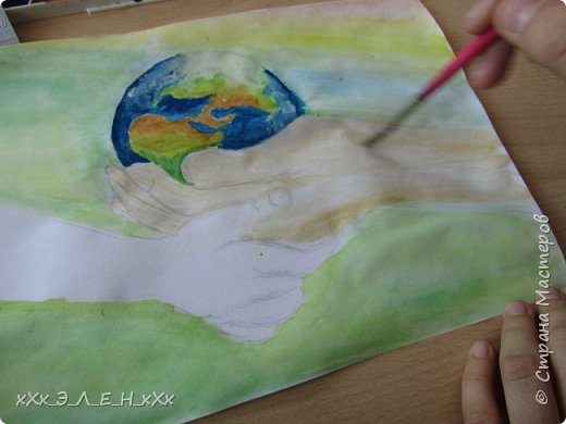 """Здравствуйте мастера и мастерицы  замечательной СТРАНЫ МАСТЕРОВ.  Конкурс называется """" Дети планеты"""". Так давайте сохраним нашу Землю, не дадим ей погибнуть , чтобы передать ее в ценности и сохранности детям!  фото 8"""