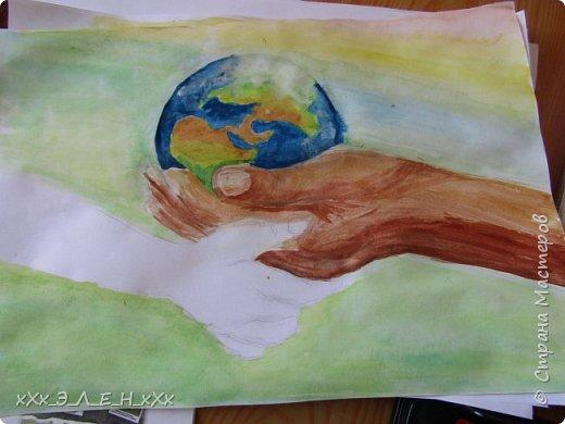 """Здравствуйте мастера и мастерицы  замечательной СТРАНЫ МАСТЕРОВ.  Конкурс называется """" Дети планеты"""". Так давайте сохраним нашу Землю, не дадим ей погибнуть , чтобы передать ее в ценности и сохранности детям!  фото 10"""