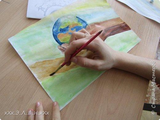 """Здравствуйте мастера и мастерицы  замечательной СТРАНЫ МАСТЕРОВ.  Конкурс называется """" Дети планеты"""". Так давайте сохраним нашу Землю, не дадим ей погибнуть , чтобы передать ее в ценности и сохранности детям!  фото 11"""