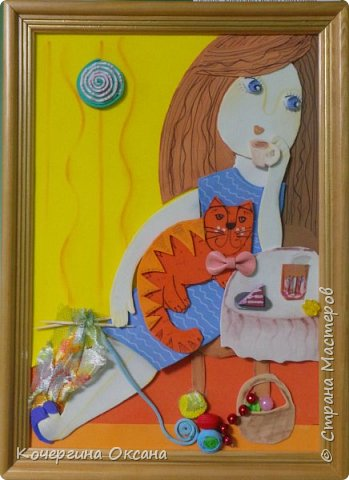 Мой любимый кот из фоамирана.